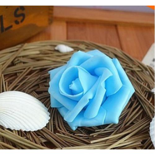 Роза из фоамирана,цвет тёмно-голубой