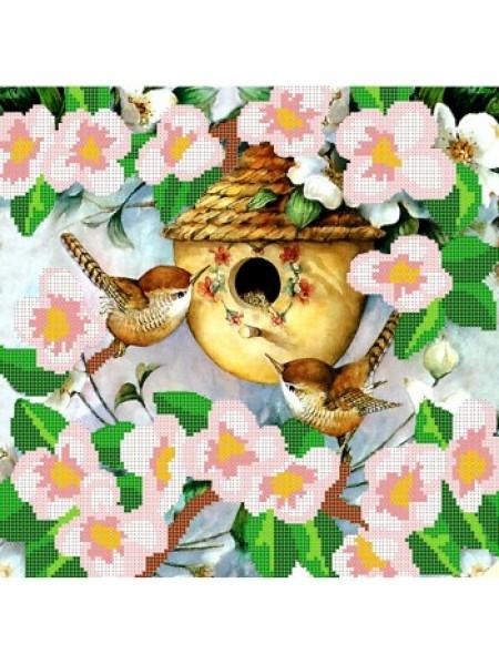 """Набор для вышивки бисером """"Птичье гнездышко"""" КМ-058"""