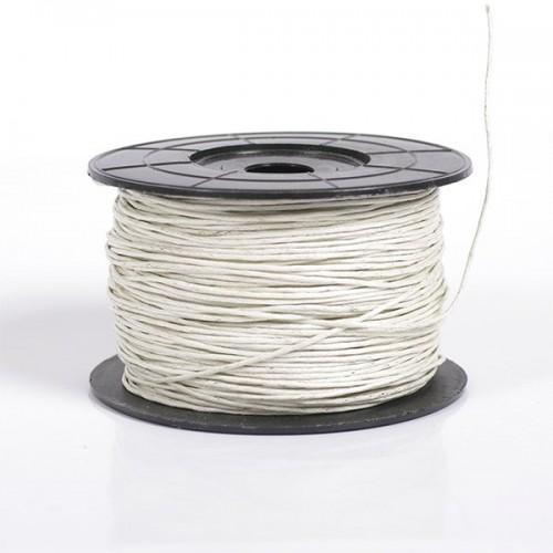 Вощеный шнур,1 мм. цвет белый,цена за 1 метр