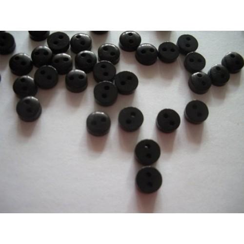 Пуговицы мини-6мм,цвет чёрный. Цена за 1 шт