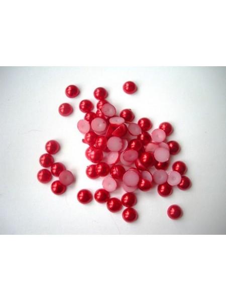 Полубусины жемчуг 5мм. красные 50шт