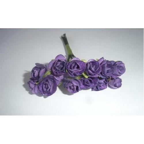 Розочки фиолетовые 10мм 12шт