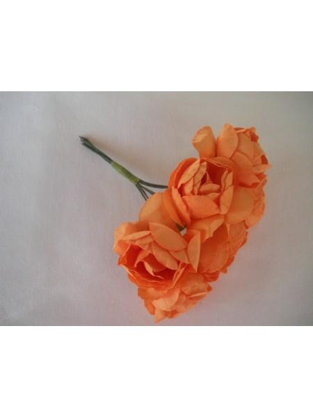 Розочки оранжевые 25мм  6шт