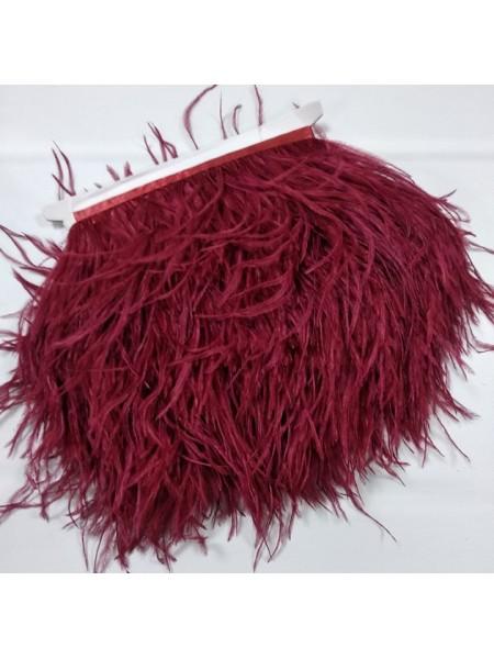 Тесьма из перьев ,цвет-бордо, цена за 10 см