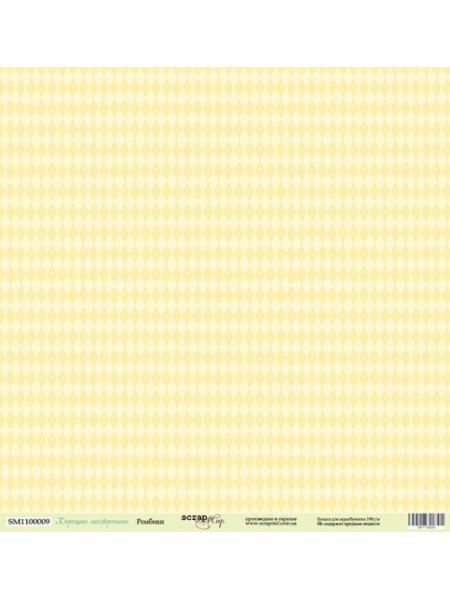 Лист односторонней бумаги 30x30 от Scrapmir Ромбики из коллекции Хорошее Настроение