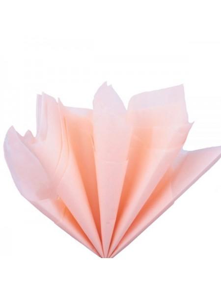 Папиросная бумага тишью,персиковая,цена за 10 листов
