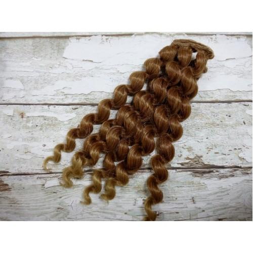Трессы-завиток(волосы для кукол)с осветлён.кончиками -15СМ
