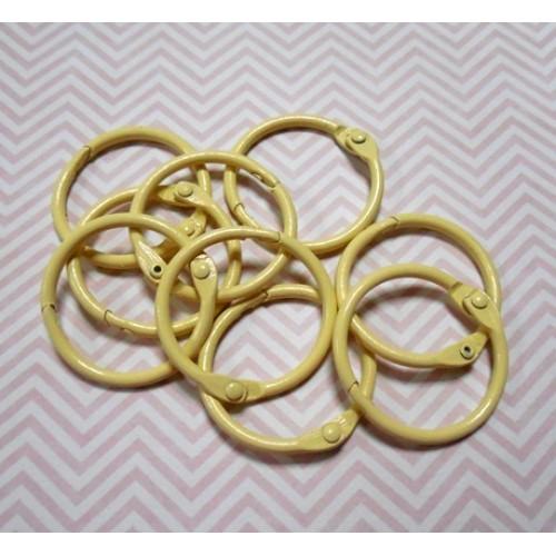 Кольца для альбомов, 2 шт ,светло-жёлтые,30 мм