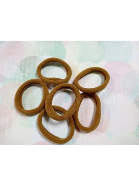Резинка для волос,4см,цв-коричневый,цена за 1 шт
