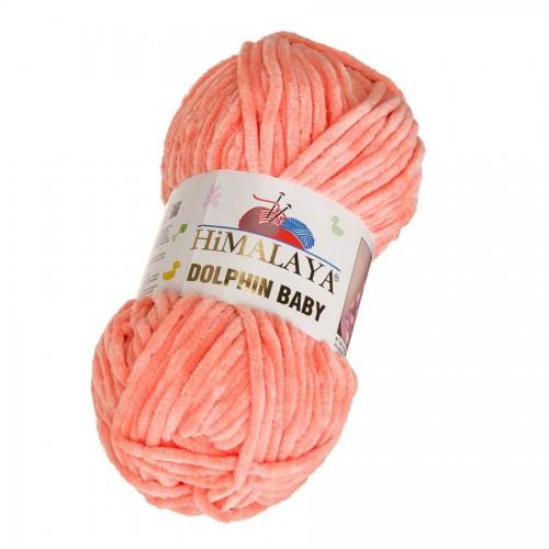Плюшевая пряжа Долфин Бэби,цв-коралл,№355,100гр