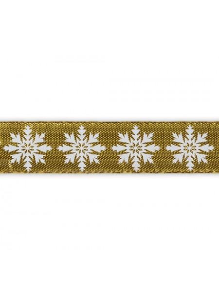 Лента металлизированная-снежинки-20мм,цена за 1 метр