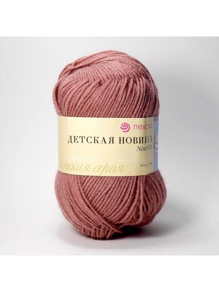 Пряжа Пехорка - Детская новинка,цв-брусника,50гр-200м