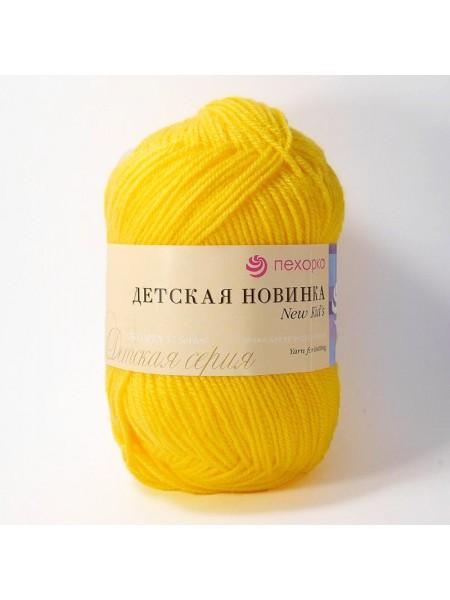 Пряжа Пехорка - Детская новинка,цв-жёлток,50гр-200м
