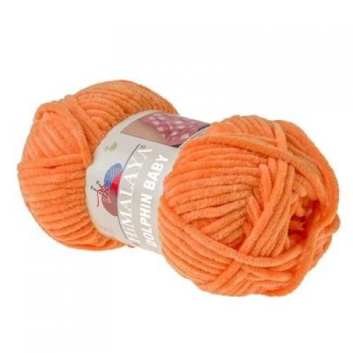 Плюшевая пряжа Долфин Бэби,цв-оранжевый,№316,100гр