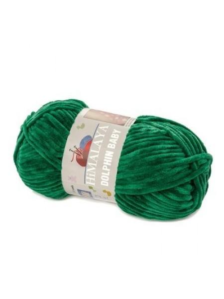 Плюшевая пряжа Долфин Бэби,цв-зелёный,№331,100гр
