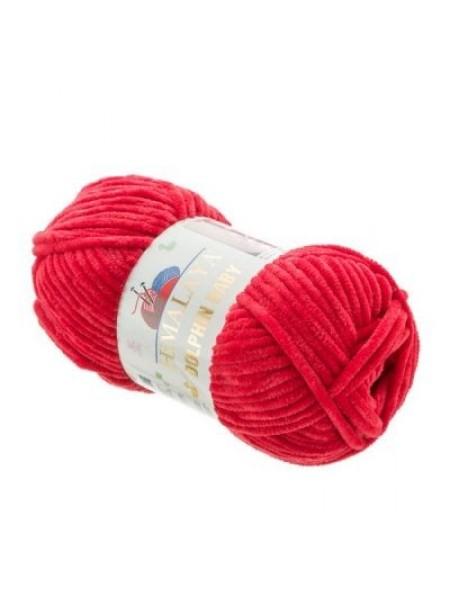 Плюшевая пряжа Долфин Бэби,цв-тёмно-красный,№352,100гр