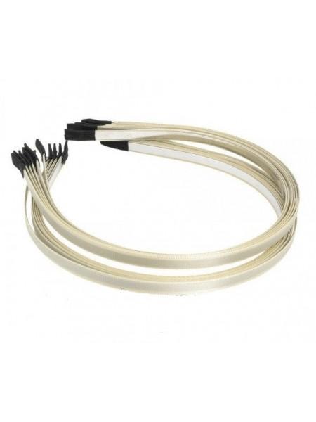 Заготовка-ободок для волос с светло-бежевой лентой  ,5мм