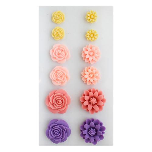Набор объемных, самоклеющихся цветов