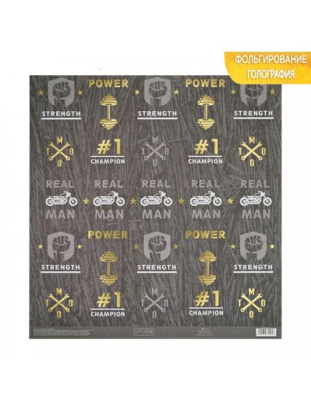 Бумага  с голографическим фольгированием Champion, 30.5 ? 32 см, 250 г/м,цена за 1 лист