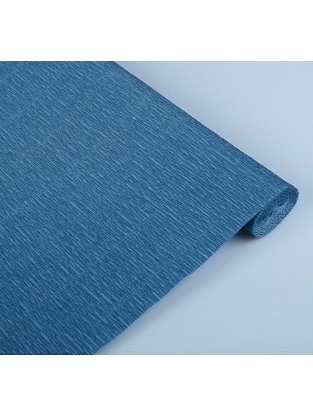 Бумага гофрированная-CARTOTECNICA ROSSI,  №615-синий