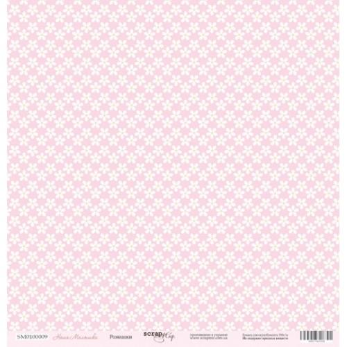 Лист односторонней бумаги 30x30 от Scrapmir Ромашки из коллекции Наша Малышка