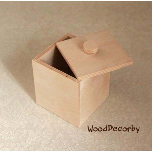 Заготовка - Короб с крышкой,8*8*9,5см
