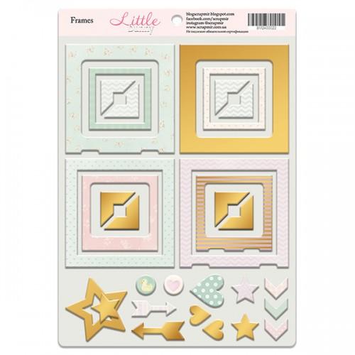 Рамочки из чипборда с золотым фольгированием Little Bunny, 30эл. от Scrapmir