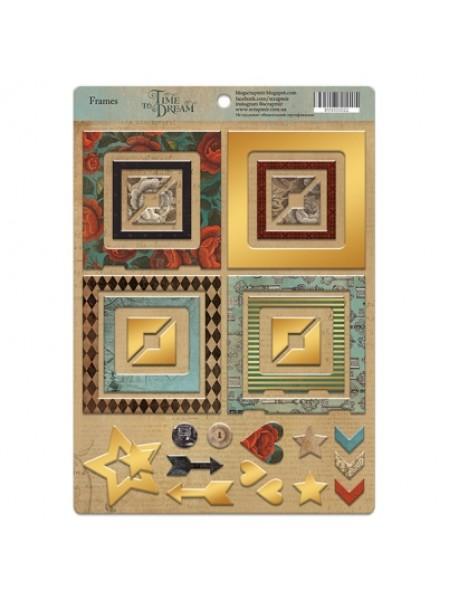 Рамочки из чипборда с золотым фольгированием Time to Dream, 30эл. от Scrapmir