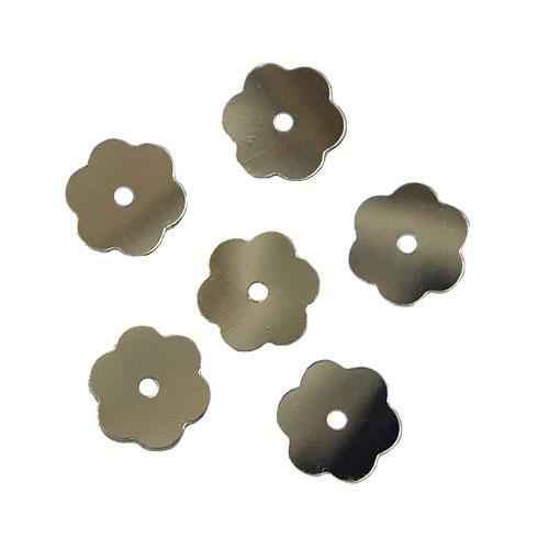 Пайетки Цветочки,10гр,цв серебро, А600-1