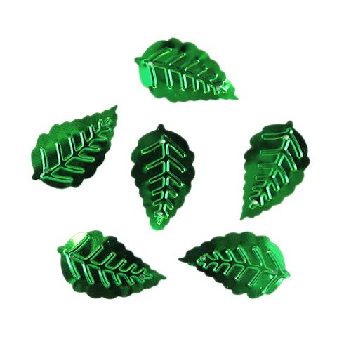"""Пайетки """"Листочки"""",10гр,цв-зелёный, А200-4"""
