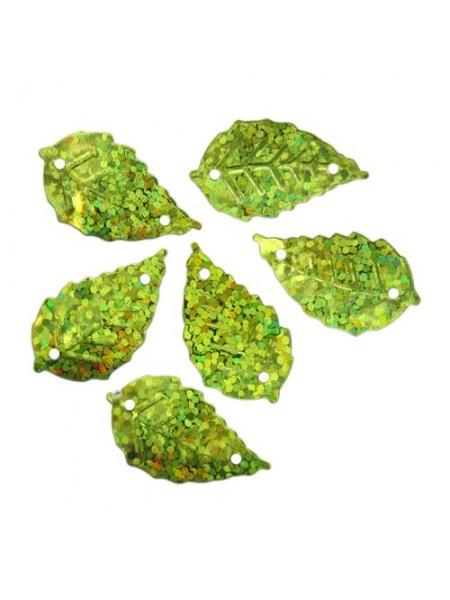 """Пайетки """"Листочки"""",10гр,цв-св.-зеленый голограмма, А200-05"""