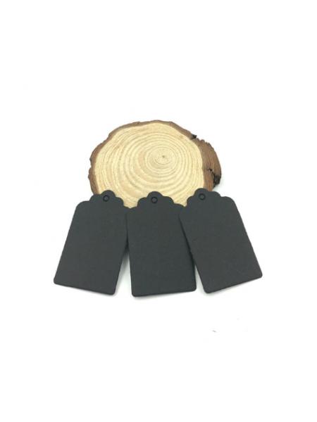 Набор черных тэгов  40*70 мм,цена за 10шт