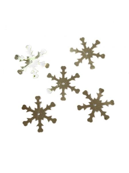 Пайетки 'снежинки',цв- серебро,24 мм А76-06