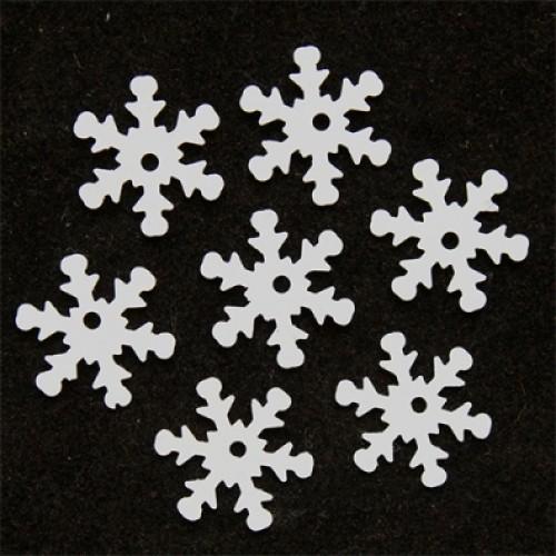 Пайетки 'снежинки',цв-белый,матовый,24 мм- цв-L010