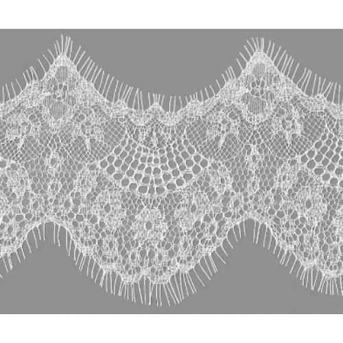 Французское кружево(реснички)цв-белый ,шир 12см,цена за 1 метр
