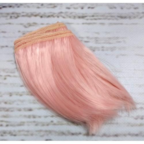 Трессы-прямые (волосы для кукол),10см-св-коралл