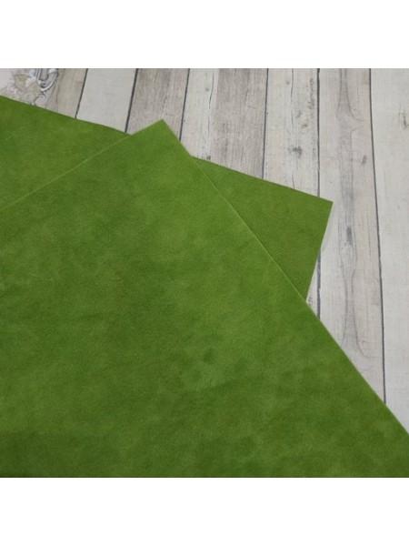 Искусственная замша,18*35см,цв-зелёный
