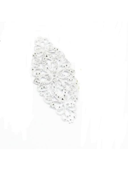 Декоративный элемент,филигрань,цв-серебро,.цена за 1 шт