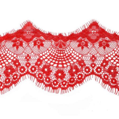 Французское кружево(реснички)цв-красный ,шир 12см,цена за 1 метр