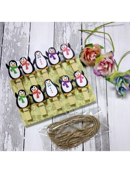 """Набор декоративных прищепок """"Пингвинчики"""""""