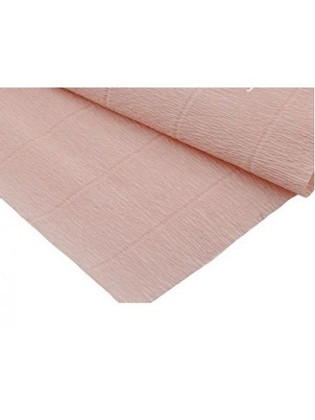 Бумага гофрированная-CARTOTECNICA ROSSI,  №17А-2,лососево-розовый пастельный