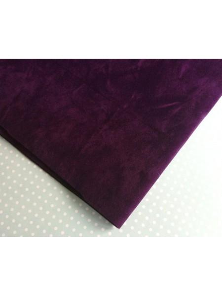Искусственная замша,18*35см,цв-фиолетовый
