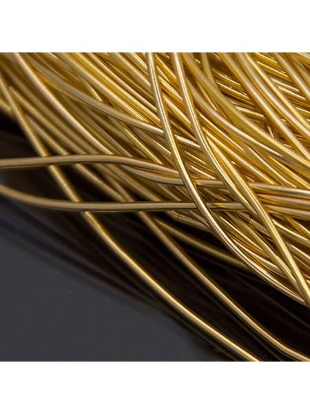 Канитель гладкая ,цвет золото,1 мм- 5 гр,№162
