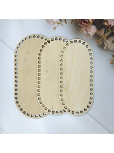 Деревянное донышко для корзин-Скуглённый прямоугольник,22*10см