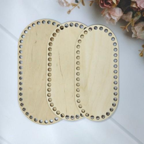 Деревянное донышко для корзин-Скуглённый прямоугольник,25*13см