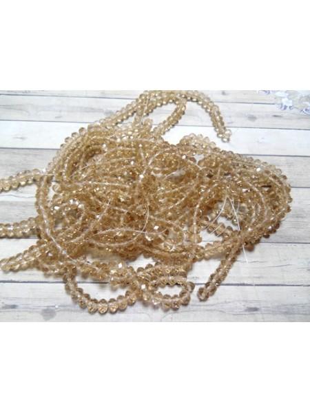 Бусина-стекло гранёное 8*6мм,цв-№20 цена за 1 шт