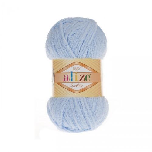 Пряжа Alize Softy,цв-св-голубой,50 гр