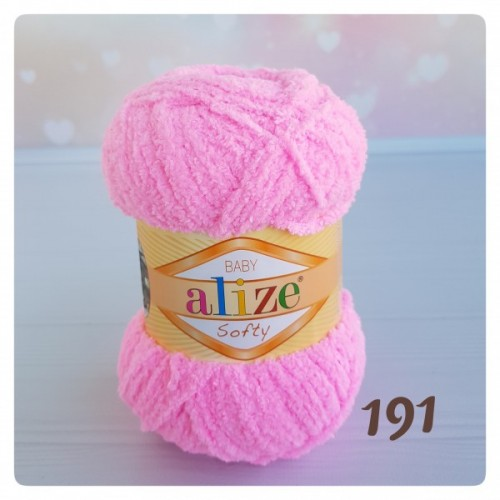 Пряжа Alize Softy,цв- ярко-розовый,50 гр