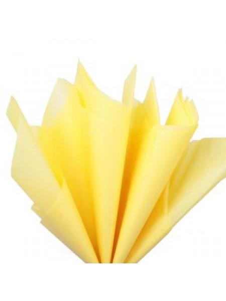Папиросная бумага тишью,жёлтая,цена за 10 листов