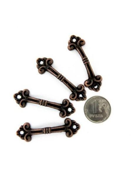 Декор. ручки для шкатулок 48*15 мм,медь.цена за 4 шт